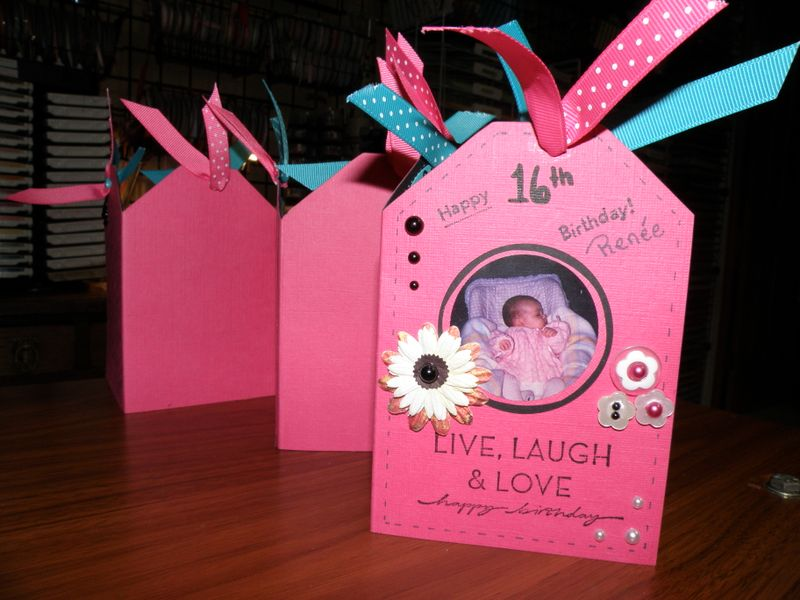 Front look for my daughters birthday card Stampin Stresss Away – Sweet 16 Birthday Card Ideas