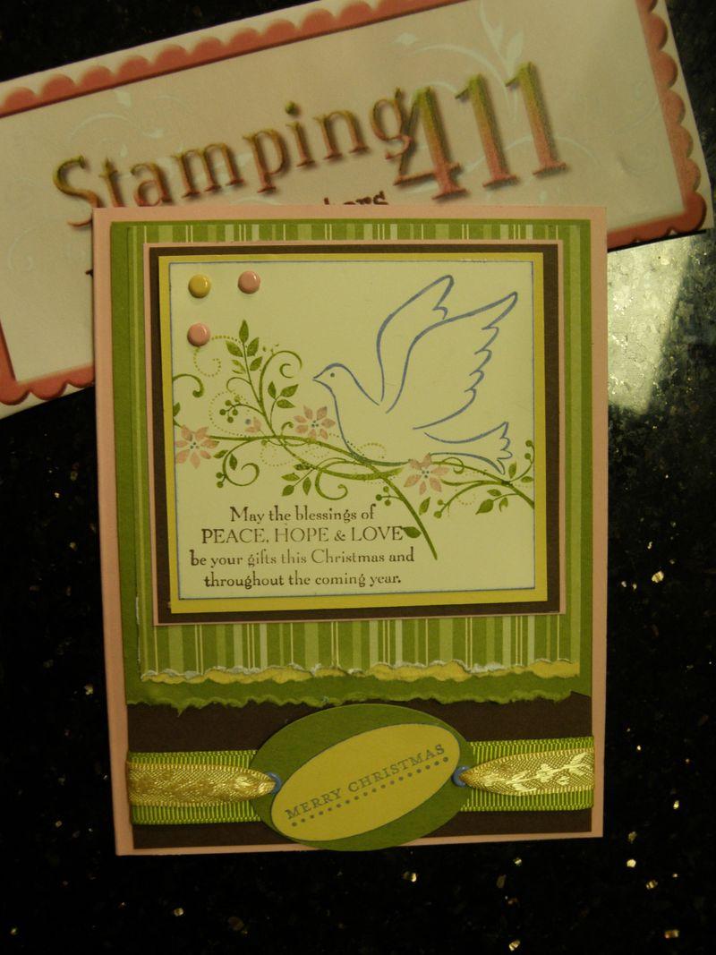 Stamping 411 card