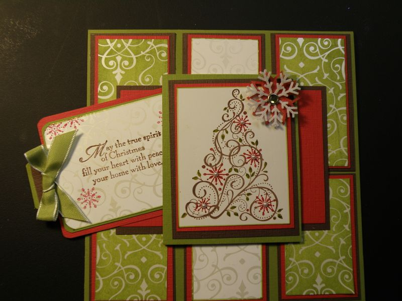 Well then, here it is my Mojo Monday Snow swirled card