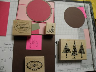 Easel Card - Stamping 411 and Krista'c colour challenge 010