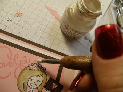 Stampin Up Pearls now apply shimmer paint
