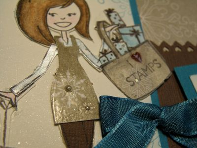 Up close ribbon and little pearl