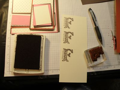 Now to stamp and emboss