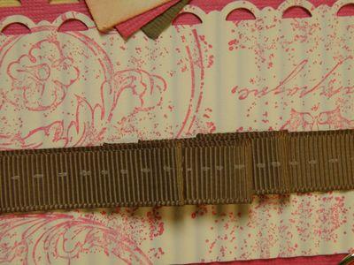 Up close faux ribbon