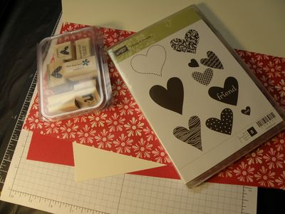 Beginning with stamps and cardstock