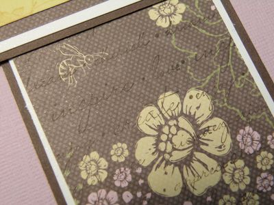 I OVERSTAMPED ON THE PATTERNED PAPER