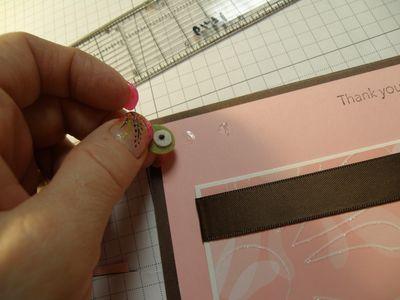 For adhesive I used mini glue dots