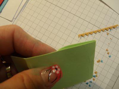 Folded card stock