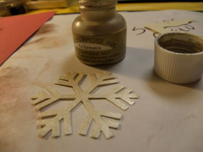 I put some nice shimmer on my snow flake