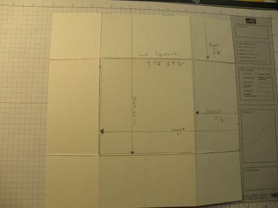 Cut a sqaure 9.5' x 9.5''