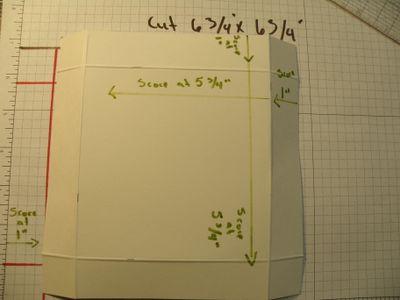 Lid - cut 6 .75'' x 6.75''
