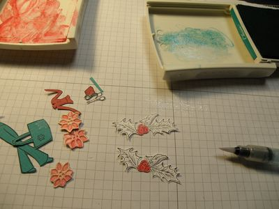 Stamp pads ink and aqua painter