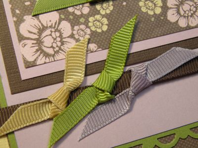 Up close on three ribbons