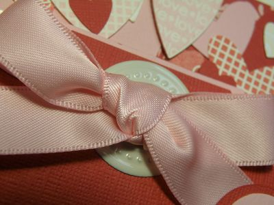 Up close ribbon bow