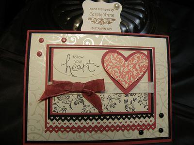 Voila my Challenge #53 Valentine card