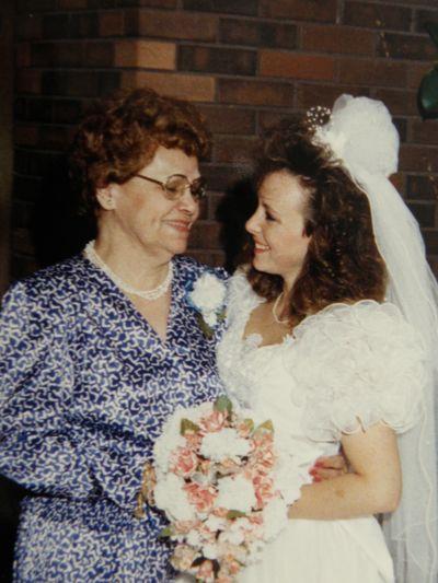 Ah my Grandma and I in 1989