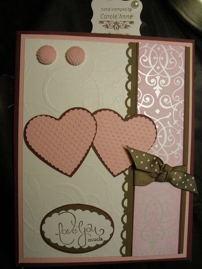 The pretty in Pink Valentine's day card