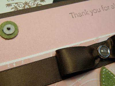 My ten min card ribbon