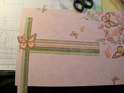Cut stripes and butterflies