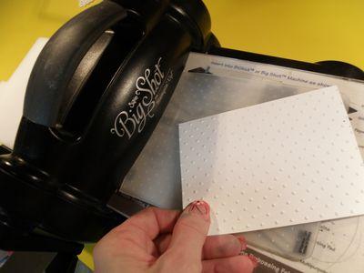 Big shot embossing folder