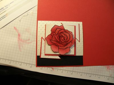 Cutting some cardstock