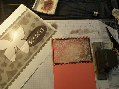 C then I added colour with my stamp pad