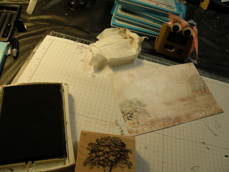 Doing some stampin now with Black craft ink