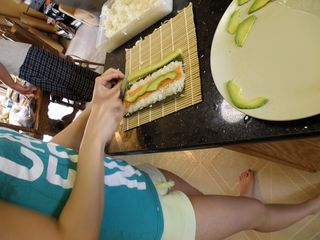 Sushi day Renee rolling
