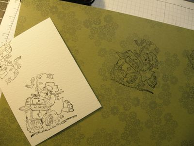A BTU on designer cardstock
