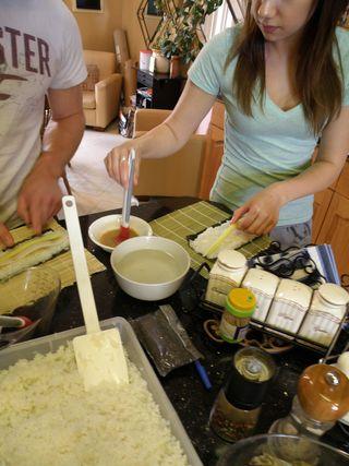 Sushi day Nadina rolling