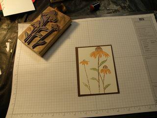 F a card stamped