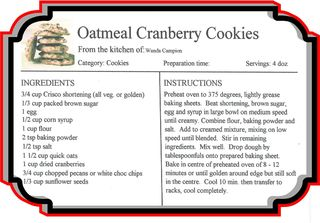 Oatmeal cranberry cookies.fs