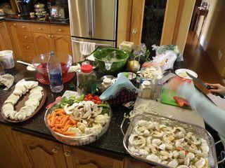 A lot of food prep