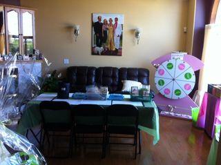 Area set up