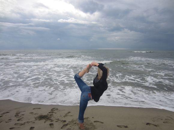Yoga on the beach our own fun Italy