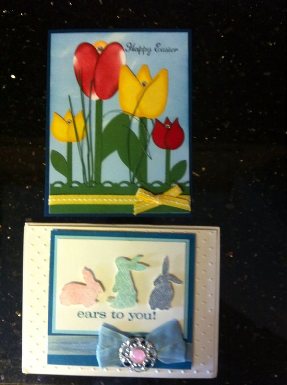 Last of Easter swap cards share