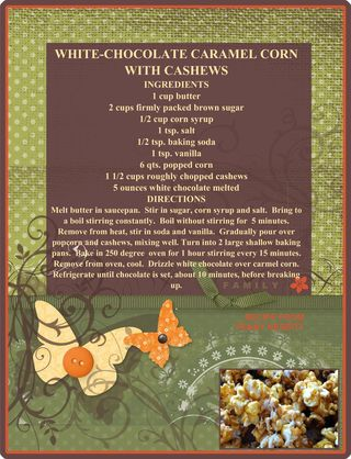 White chocolate caramel popcorn from Penny
